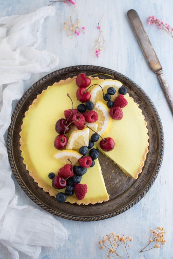 Crostata al limone senza cottura