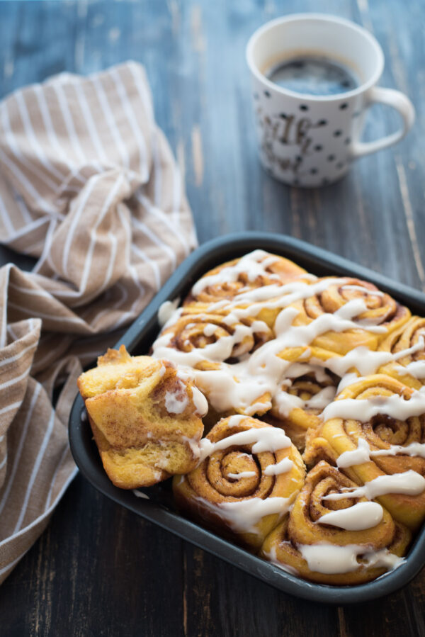 Cinnamon rolls alla zucca