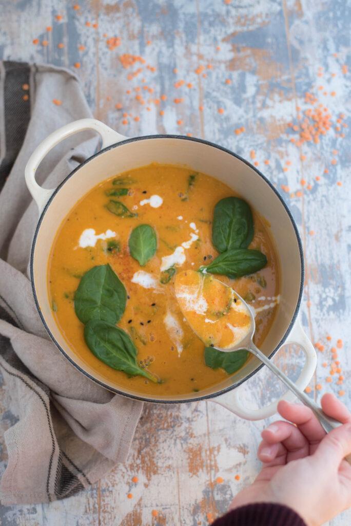 Zuppa di zucca e latte di cocco