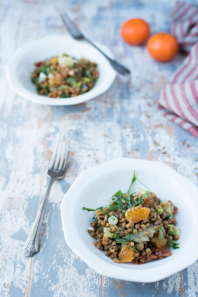 Insalata di lenticchie e agrumi