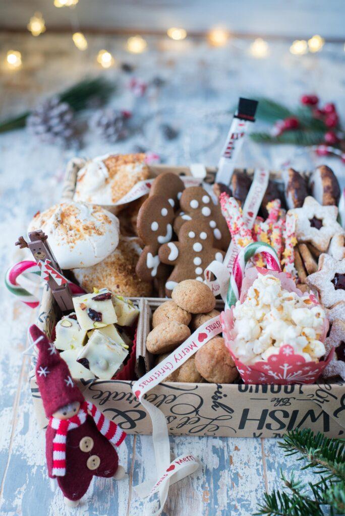 Scatola di biscotti Natale