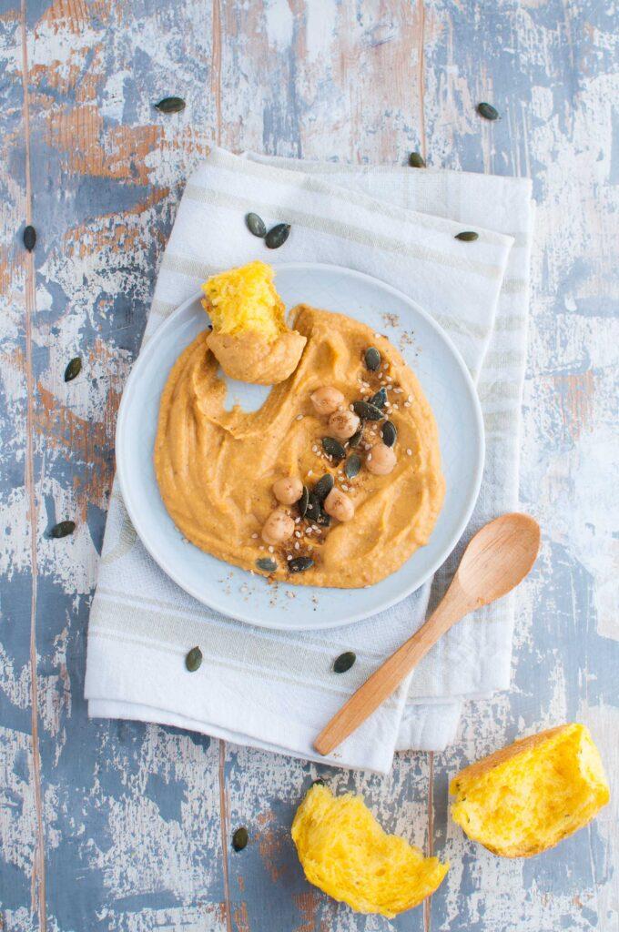 Hummus di ceci e zucca ricetta facile