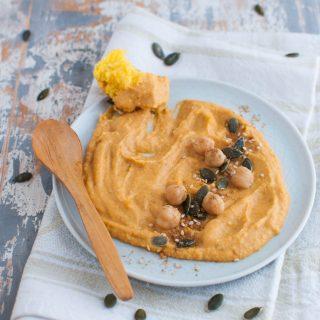 Hummus di ceci e zucca antipasto