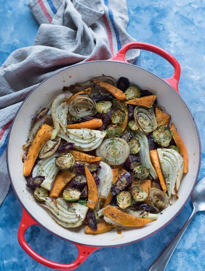 Verdure al forno con aceto e sciroppo d'acero
