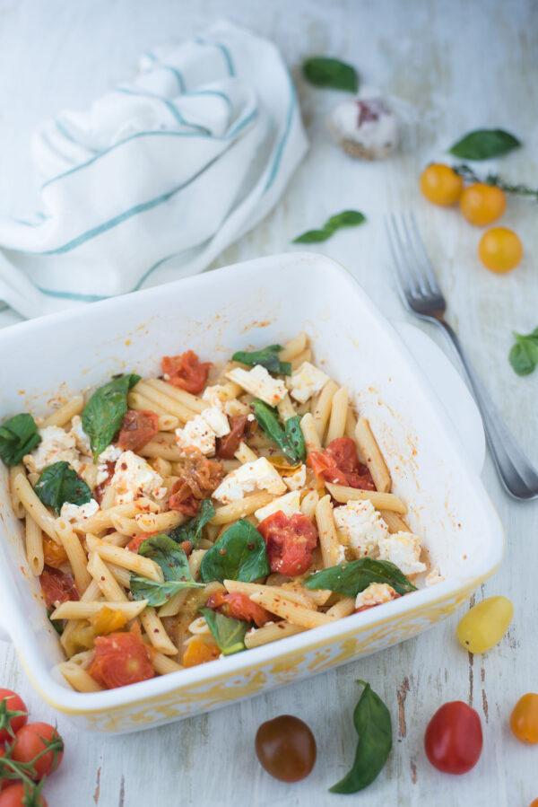 Baked feta pasta original recipe