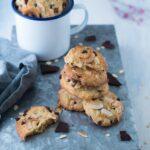 Cookies al cocco avena e cioccolato