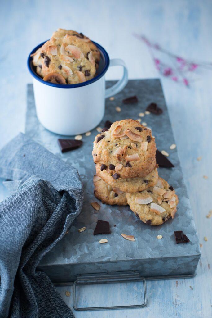 Cookies al cocco e cioccolato