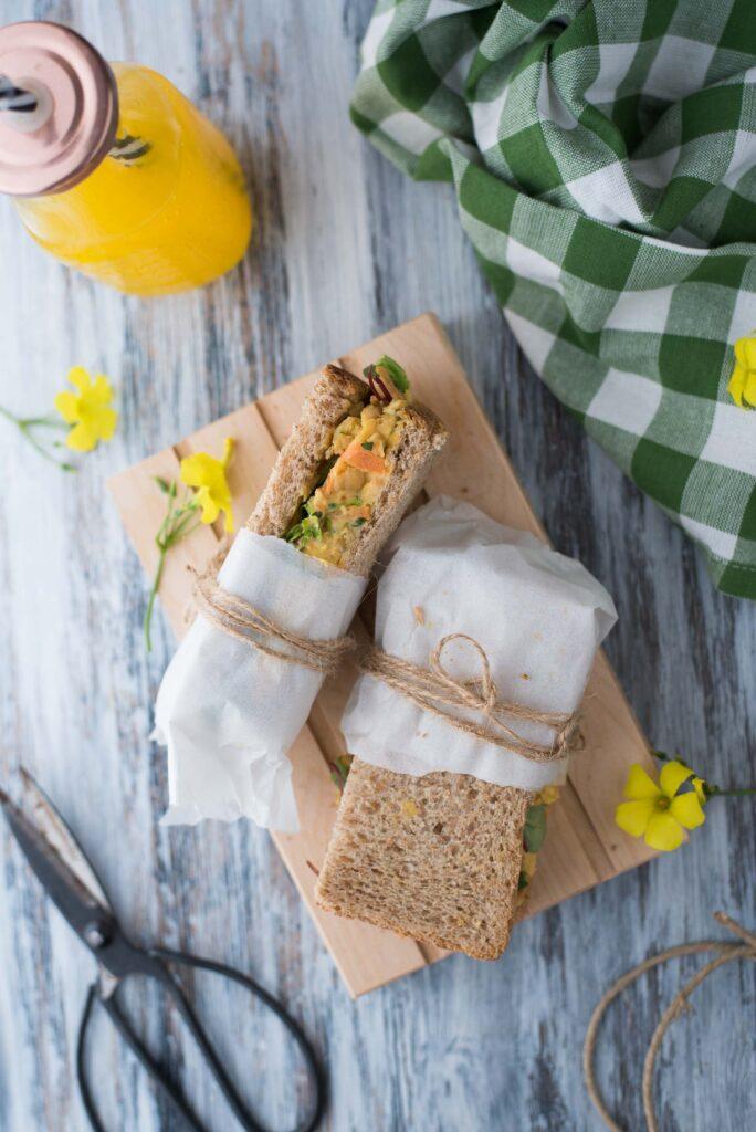 Panino vegetariano proteico