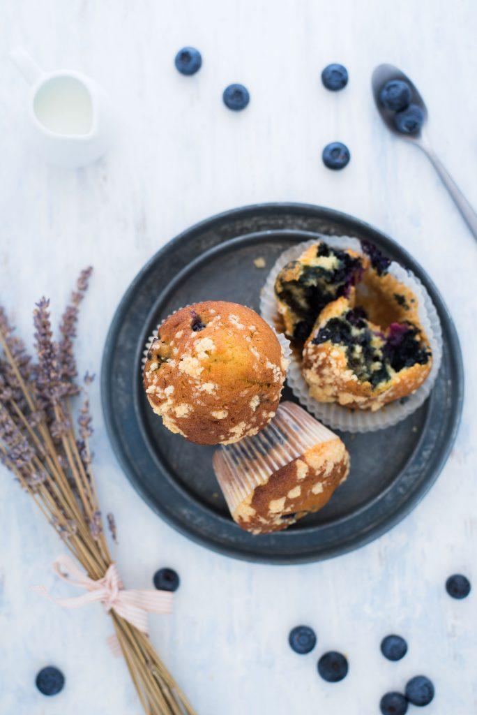 Muffin farina di farro e mirtilli