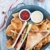 Club sandwich con bacon al miele