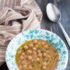 Zuppa di ceci e castagne in slow cooker